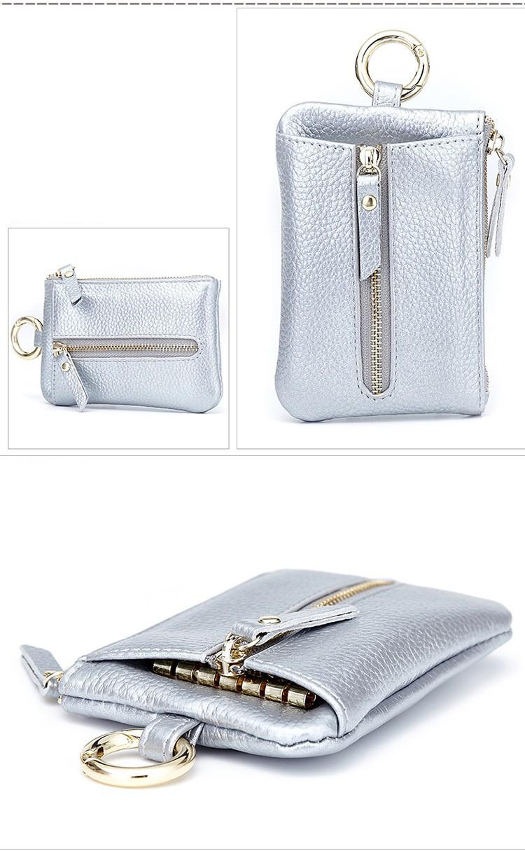 Women genuine leather key wallet 10-4