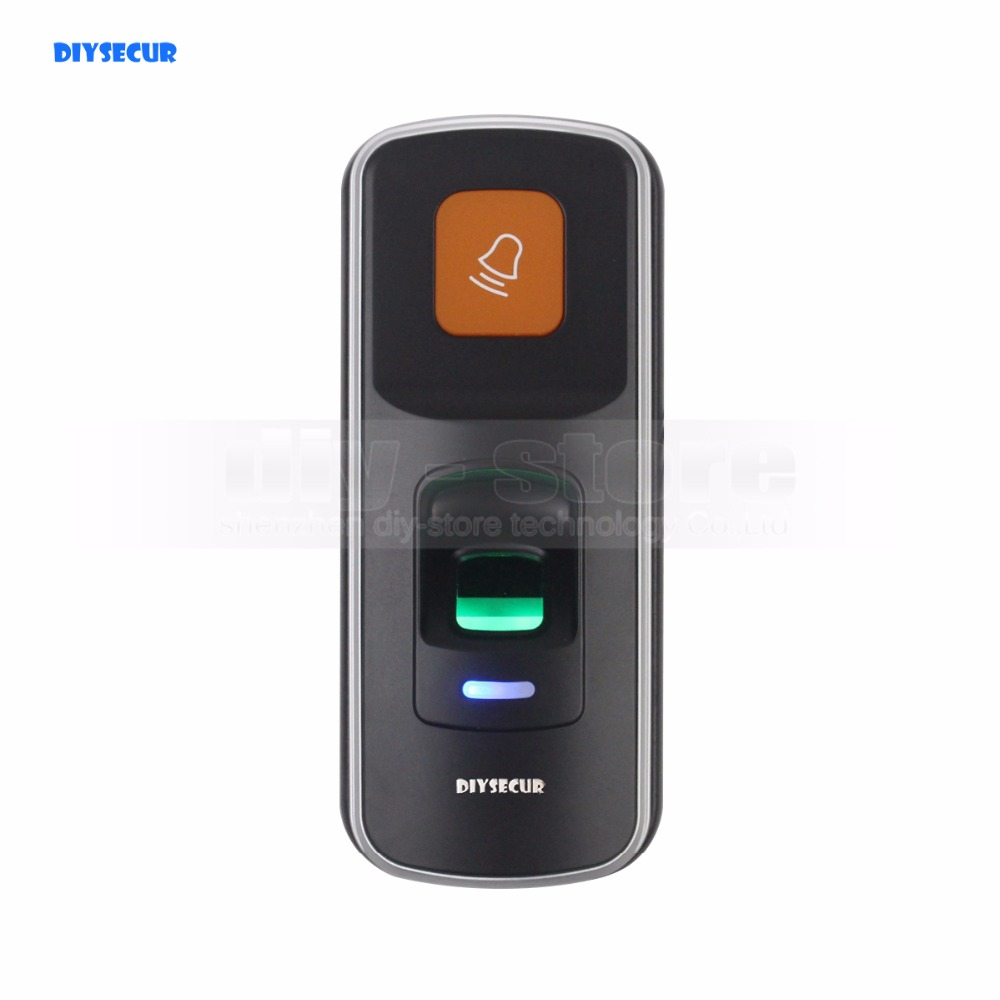 DIYSECUR 1000 Users Fingerprint 125KHz RFID Card Reader 2 In 1 Door Lock Access Controller Kit Plastic Shell metal rfid em card reader ip68 waterproof metal standalone door lock access control system with keypad 2000 card users capacity