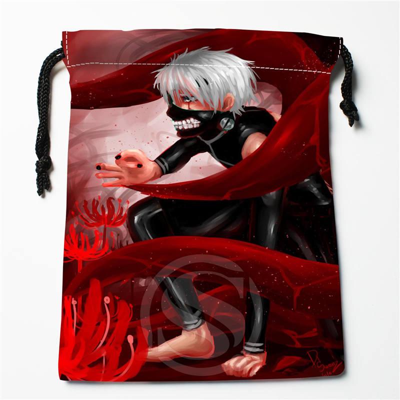 E-207 New Tokyo Ghoul ANIME &5 Custom Logo Printed  Receive Bag  Bag Compression Type Drawstring Bags Size 18X22cm R801R207YB