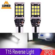 2x T15 W16W LED araba LED ters işıklar Canbus 2835 15 21 SMD yüksek işık yedekleme park lambası
