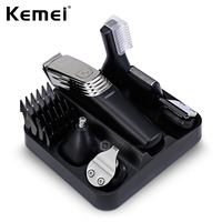 2019 New 6in1 Rechargeable Men Hair Clip Shaving Trimmer Electric Shaver Beard Clipper Machine Professional Barber Haircut Tool