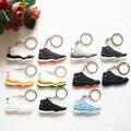 17 Color de silicona Mini Jordan 11 llavero bolsa encanto mujer hombres niños clave anillo zapatillas de deporte clave titular accesorios zapatos clave de la cadena