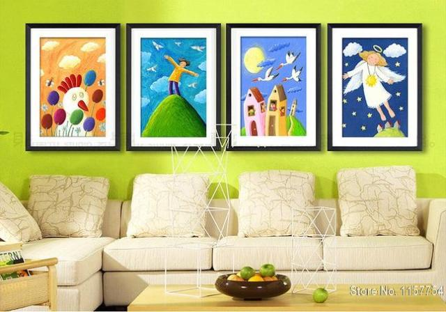 decorative painting kids room wall art picture snow white princess rh aliexpress com kids room painting Teen Room Painting Ideas