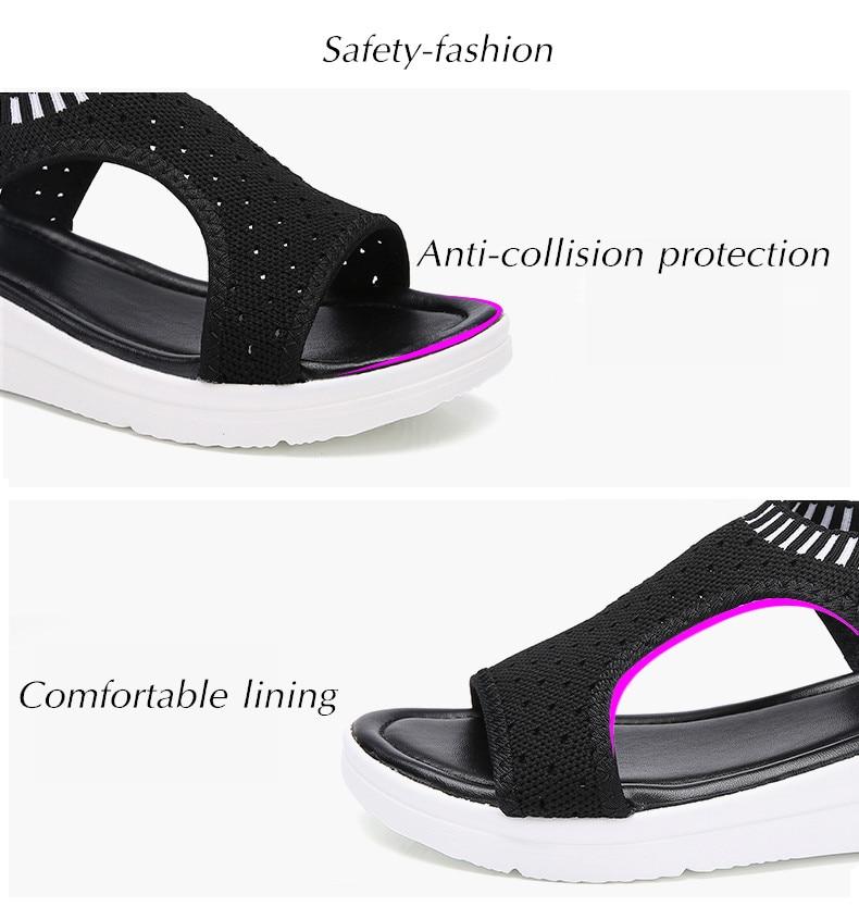 HTB17HqARzDpK1RjSZFrq6y78VXaQ ZUNYU New 9 colors Woman Flat Summer Shoes Fashion Women's Sandals Wedge Comfortable Sandals Ladies Sexy Sandals Plus Size 35-45