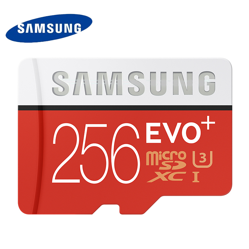 SAMSUNG U3 Carte Mémoire Micro SD 256 gb SDXC TF 95 m Qualité EVO + MicroSD Classe 10 C10 UHS TF Trans Flash pour Smartphone 256 gb 100%