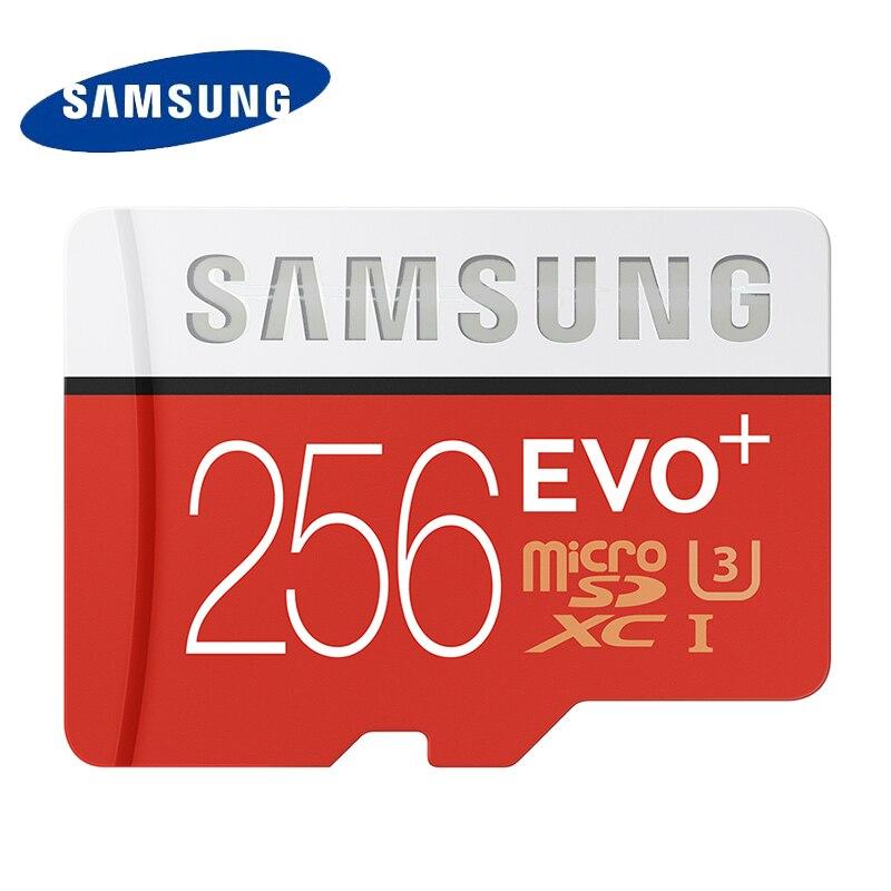 SAMSUNG U3 Micro SD Memory Card 256GB SDXC TF 95M Grade EVO+ MicroSD Class 10 C10 UHS TF Trans Flash for Smartphone 256GB 100% original samsung micro sd card memory card evo plus 32gb class10 tf card c10 sdhc sdxc uhs i for huawei p8 p9 p10 smartphone