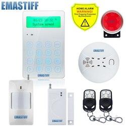 Bezprzewodowy GSM alarmowy w domu włamywacza System 433 MHz hiszpański francuski angielski rosyjski język domofon