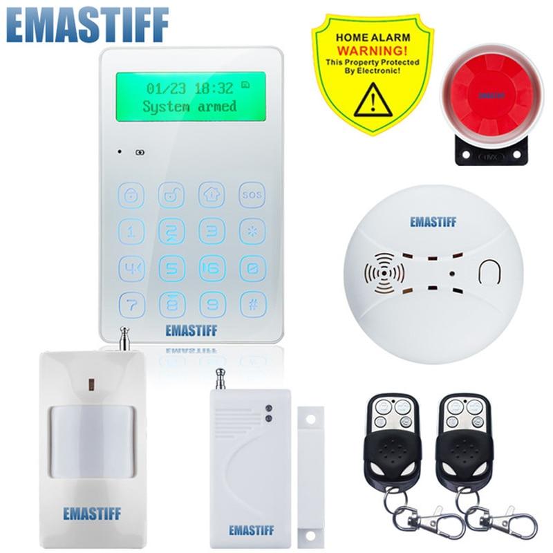 Wireless GSM Home Burglar Security Alarm System 433MHz Spanish French English Russian Language IntercomWireless GSM Home Burglar Security Alarm System 433MHz Spanish French English Russian Language Intercom