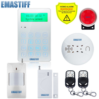 Wireless GSM Home Burglar Security Alarm System 433MHz Spanish French English Russian Language Intercom