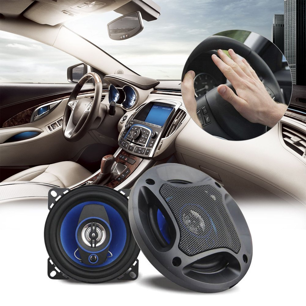 6.5 Inch Universal Car Coaxial Horn 3 Ways Full Frequency Range Auto Audio Music Stereo HiFi Speakers Automobile Loud Speakers