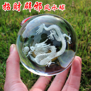 2020 home -guarding exorcising efficacious Talisman House Protection Money Drawing Dragon FENG SHUI Crystal ball statue