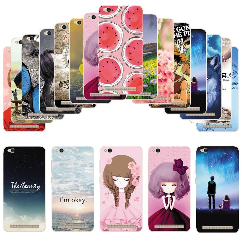 Soft TPU Cover For Xiaomi Redmi 5A Case Soft Silicone Cartoon Protective Back Case For Xiaomi Redmi 5A 5.0 inch Phone Coque Capa