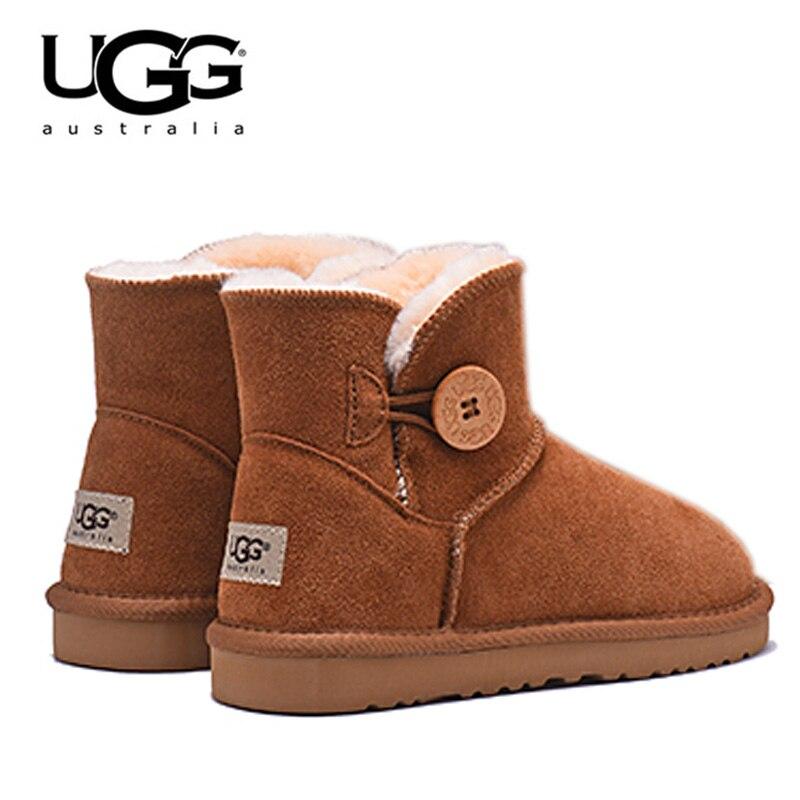 2019 nouveau UGG bottes 3352 femmes bottes chaussures chaudes d'hiver femmes bottes en peau de mouton Uggings australie Original UGG bottes