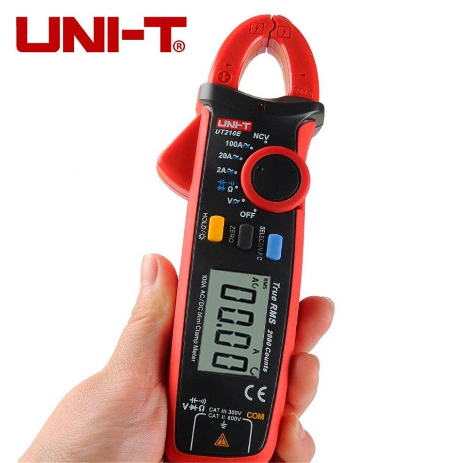 UNI-T UT210E True RMS Digital Multimeter AC/DC Current Mini Clamp Meters UT210E handheld Clamp Multimeters uni t ut210e true rms mini digital clamp meters ac dc current voltage auto range ut210c ut210d