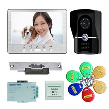 Home Security & Safety 7″ Video Door Phone Doorbell Intercom IR Camera Monitor Electric Strike Lock RFID Keyfobs
