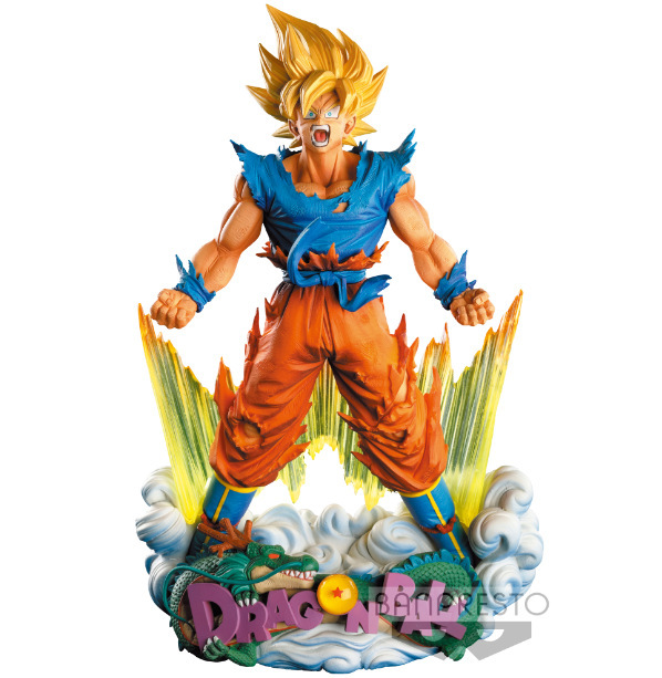 24cm Dragon Ball Z Super Saiyan Son Goku Anime Action Figure PVC New Collection figures toys Collection for Christmas gift 16cm anime dragon ball z goku action figure son gokou shfiguarts super saiyan god resurrection f model doll