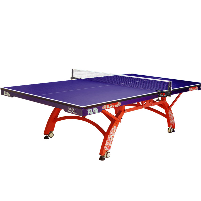 Double Fish XIANGYU 328 ITTF Approved Folded Moveable Pingpong Table Tennis Table For International Tournament 25mm Thickness