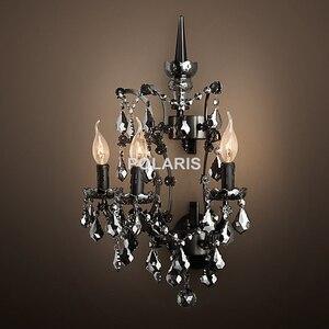 Image 4 - مصباح جداري شمعدان ديكور فني حديث ثريا كريستال عتيقة إضاءة جدارية للمنزل فندق غرفة الطعام ديكور بسعر رخيص