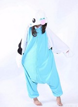 Adult Men Women Pajamas Green Blue Parrot Psitaciformes Coser Trajes  Fleece Pajamas Cosplay Onesie Sleepwear Halloween Costume