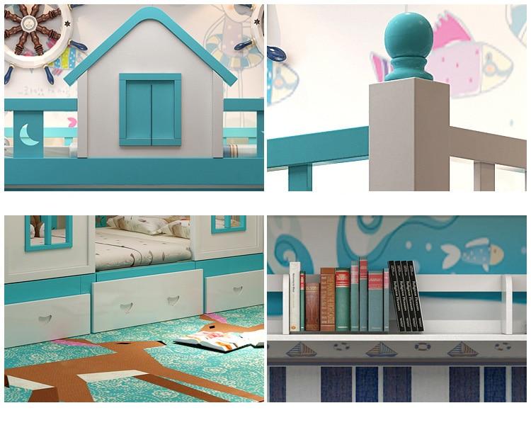 22  0128TB006 Fashionable kids bed room furnishings princess fortress with slide storages cupboard stairs double kids mattress HTB17HrheIic eJjSZFnq6xVwVXaR
