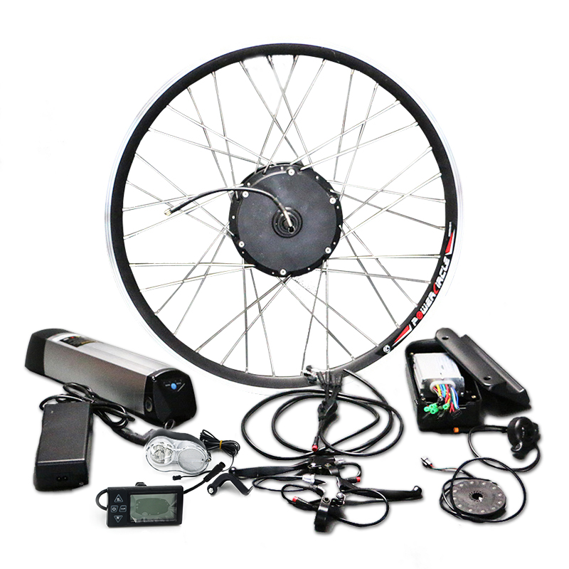 Hot Sell 36V 48V Battery 250W 350W 500W Electric Motor Bicycle Kit Samsung Cell bldc Controller LED LCD Display MTB Ebike Parts