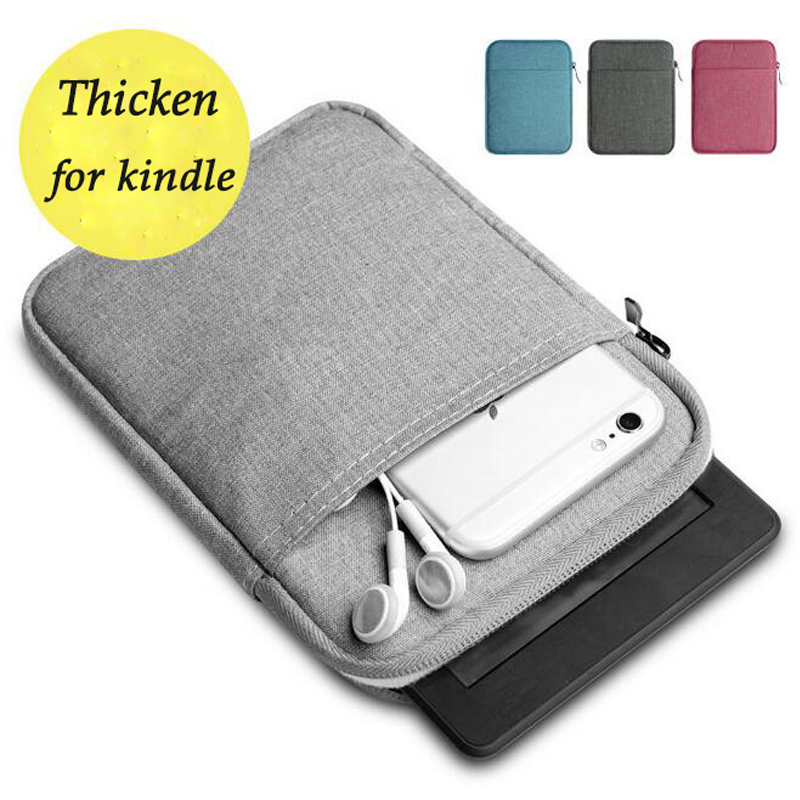 6 inch Universal ebook Case for Kindle Paperwhite Case Voyage Thick Kindle Case Cover Pocketbook Sleeve for kobo Tablet Pouch canvas sleeve pouch bag for amazon kindle touch paperwhite voyage new kindle 6 inch ebook cover shockproof e book sleeve cases