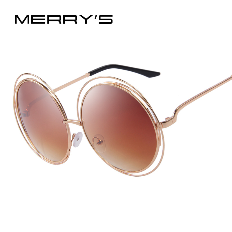 26fb76ba50b MERRY S Fashion Women Classic Shades Big Frame Round Shades UV400-in  Sunglasses from Apparel Accessories on Aliexpress.com