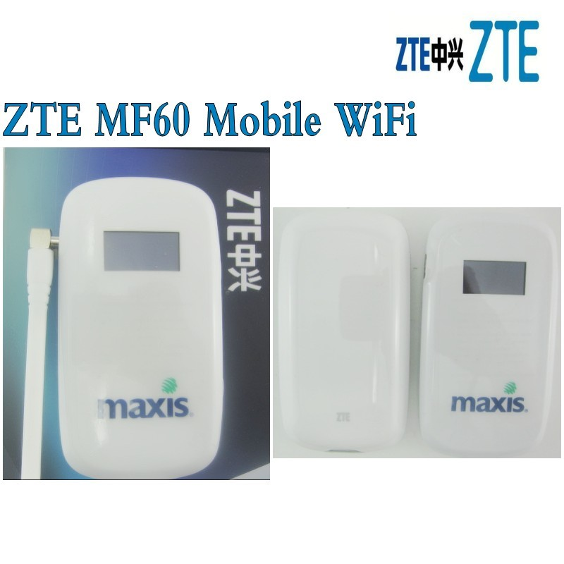 Unlocked <font><b>ZTE</b></font> <font><b>MF60</b></font> HSPA+ 21M 3G Wireless Router WiFi Mobile Hotspot Broadbrand plus 3g antenna image
