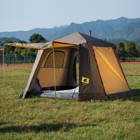 Outdoor 4 5 Person Automatic Camping Tent 420D Oxford Cloth 2 Layers Large Tent Waterproof Windproof