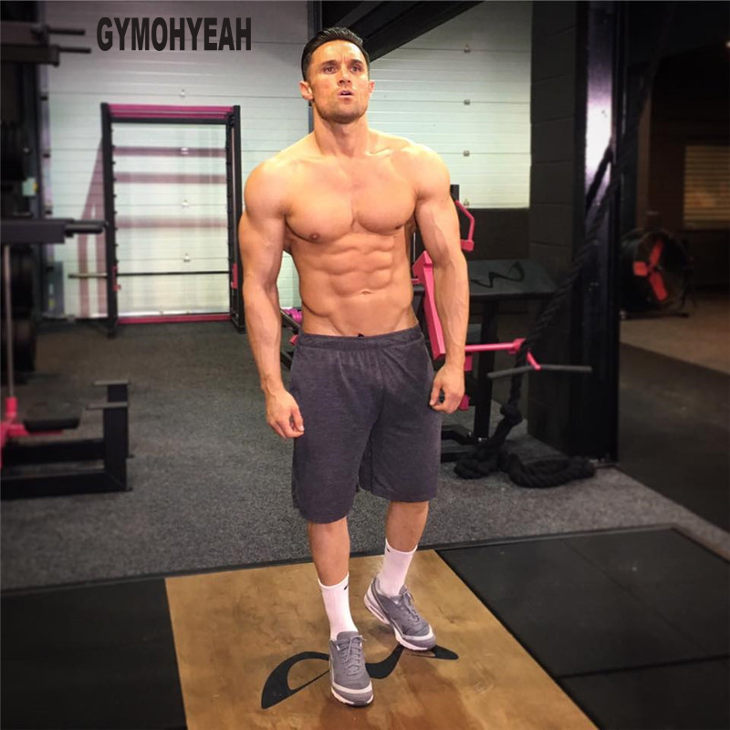 New Gyms Casual Shorts Men Fitness bodybuilding Cotton Joggers sweatpants slim Fit High Quality Over knee Beach Shorts mens