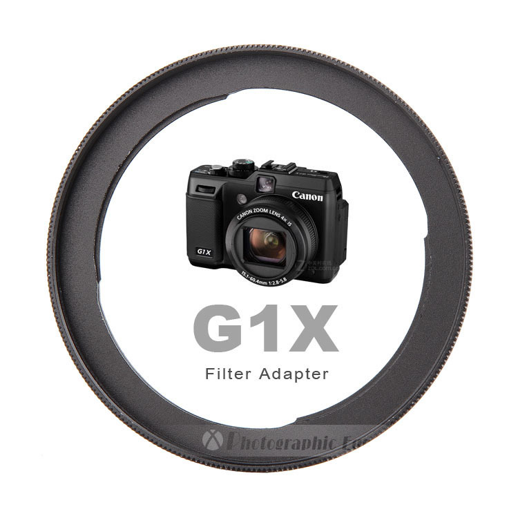Aluminum FA-DC58C Camera Lens Filter Adapter For Canon PowerShot G1X Camera Reinstall 58mm UV Filter (Incompatible With G1X II)