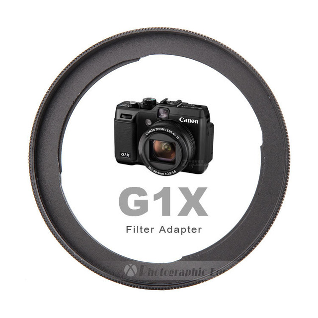 Aluminum FA DC58C Camera Lens Filter Adapter for Canon PowerShot G1X Camera Reinstall 58mm UV filter (Incompatible With G1X II)