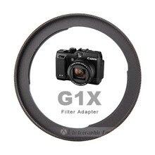 الألومنيوم FA DC58C عدسة الكاميرا مهايئ المرشح لكانون PowerShot G1X كاميرا إعادة تركيب 58 مللي متر UV تصفية (غير متوافق مع G1X II)