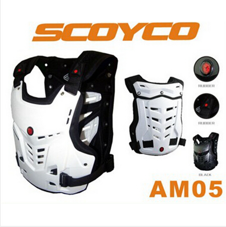 (1 set & 2 couleurs) Véritable Scoyco AM05 Motocross Hors Route Armure Racing Professionnel Moto Armure Veste De Protection vitesse