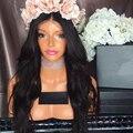 2017 Nuevo Diseño de Encaje Completo Pelucas de Cabello Humano Ondulado Del Frente Del Cordón peluca Superior de Seda 4*4 Del Cordón Del Pelo Humano Pelucas Para Negro mujeres