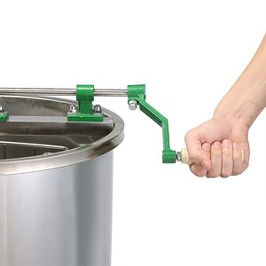 Image 3 - Marke Neue Große 4 Rahmen Edelstahl Manuelle Honig Extractor