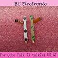 7 pulgadas Original interruptor de encendido botón de Volumen Power Flex cable para el Cubo U51GT Talk 7X talk7x4 conductor cable flex + sticker