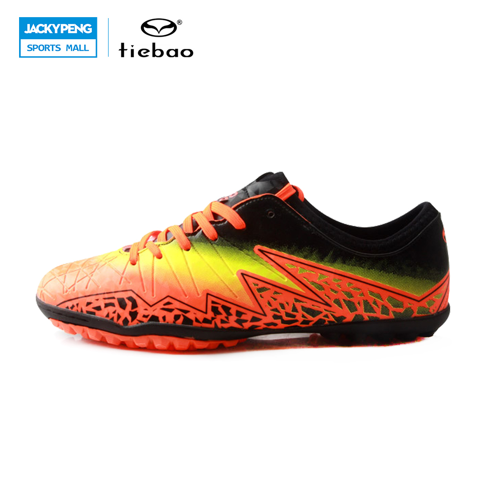 TIEBAO Professional Soccer Shoes TF Turf Soles Shoes Soccer Kids Chuteira Futebol Soccer Cleats Chaussure Football Kids maultby kid s boy children blue black ag sole outdoor cleats football boots shoes soccer cleats s31702b