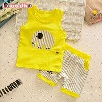 Baby Boys Girls Clothing Set Children Vest Pants Set Kids Cartoon Clothes Casual Suits 3