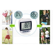 New Multi-Function Electronic Waterproof Pedometer Calories Counter Digital Running Step Counter With Large LCD Display Black