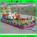 Engraçado playground corrediça inflável cidade do divertimento inflável slide bouncer castelo para as crianças brinquedos