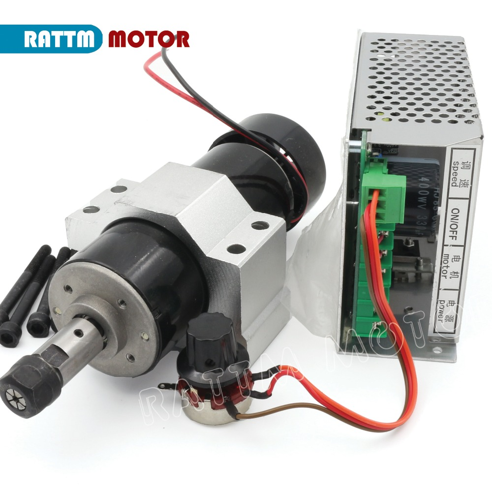 EU Delivery 500W ER11 Air cooled spindle motor 220V 12000rpm Speed Controller 52mm Fixing spindle