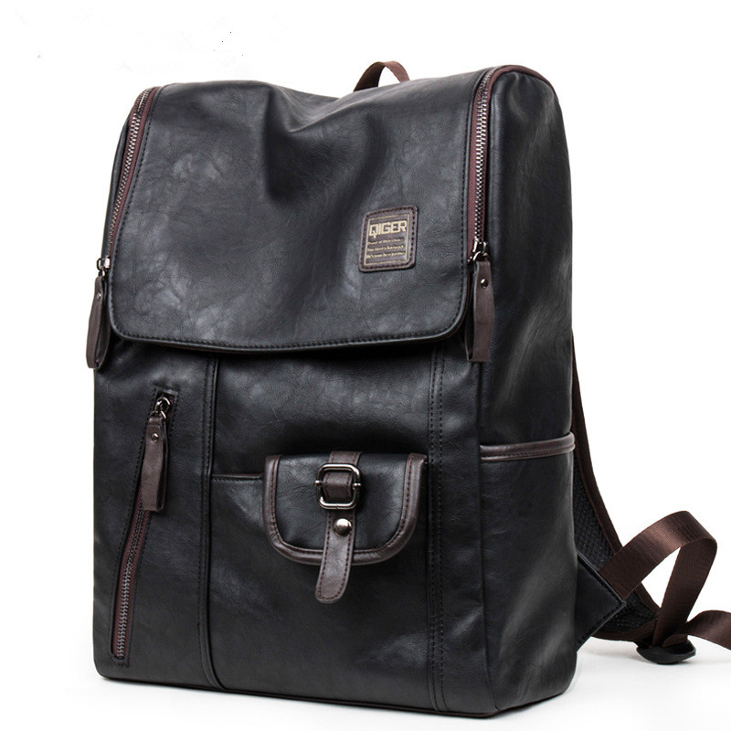 PU large space men's  leather backpacks  male students  casual for  school shoulder  bags casual bags  mochilas gravity falls