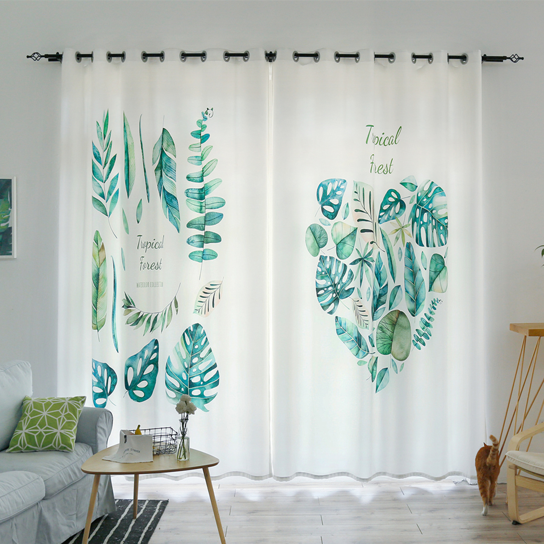 Moderne rideau occultant 3d Rose fleurs vert plante feuilles motif chambre décor velours coton fenêtre rideau pour salon
