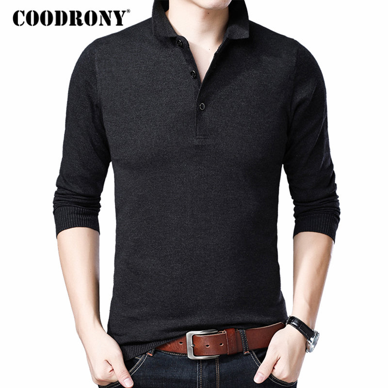 COODRONY Sweater Men Brand Clothes 2018 Winter New Arrival Casual Mens Sweaters Knitted Cashmere Wool Pullover Men Knitwear 8248