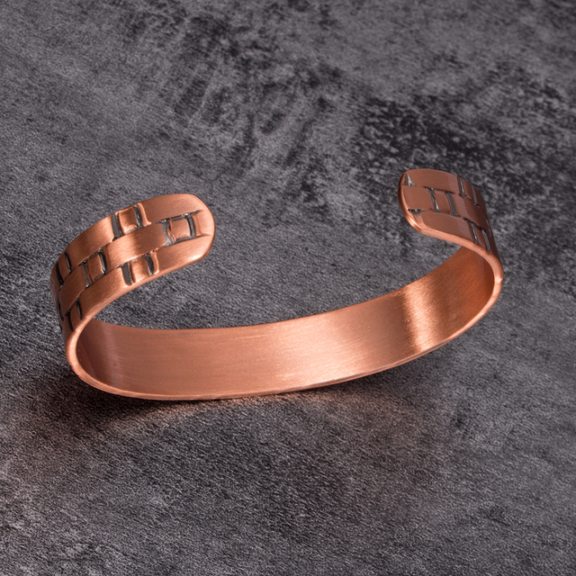 Pure Copper Magnetic Bracelet Health Arthritis Wide Adjustable Cuff Bracelet