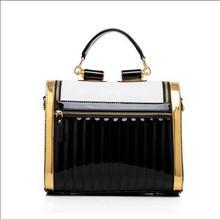 2015 новый черный и белый шить сумки сумка ретро пакет прилив Г-Жа сумка мешок отдыха