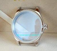 Parnis 44mm 316l caixa de relógio aço inoxidável caber 6497/6498 movimento vento mão mecânica 01