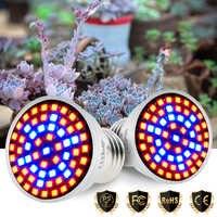 GU10 LED Pianta Cresce Lampada 220V Spettro Completo E27 LED Coltiva La Luce E14 Impianto Al Coperto Lampadina MR16 Phytolamp per la coltura idroponica Crescere Tenda