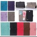 Для Tab 4 7.0 T230 Pu Кожаный Чехол Стенд Tablet Cover чехол Для Samsung Galaxy Tab 4 7.0 SM-T230 SM-T231 T235 Ж/Карты слоты